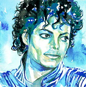 Picture Paintings - Michael Jackson Thriller Portrait by Fabrizio Cassetta