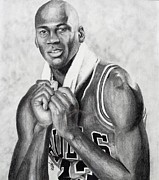 Jordan Drawings - Michael Jordan by Devin Millington