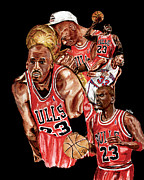 Basketball Paintings - Michael Jordan by Israel Torres