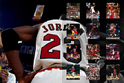 Michael Photo Framed Prints - Michael Jordan Framed Print by Joe Hamilton