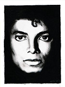 Michael Drawings Posters - Michael Portrait Poster by Elizabeth Moug