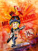 Heroes Paintings - Michael Schenker in Dublin by Miki De Goodaboom