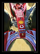 Schumacher Racing Photo Framed Prints - Michael Schumacher Fish Eye Framed Print by Blake Richards