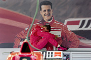 Schumacher Racing Photo Framed Prints - Michael Schumacher Framed Print by Gary Doak