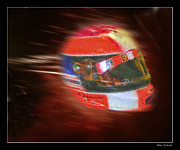 Schumacher Racing Photo Framed Prints - Michael Schumacher Helmet Framed Print by Blake Richards