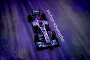 Michael Schumacher Print by Marvin Spates