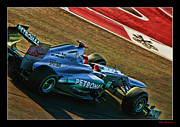 Michael Schumacher Photo Posters - Michael Schumacher Silver Arrows Poster by Blake Richards
