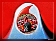 Michael Schumacher Though The Logo Print by Blake Richards