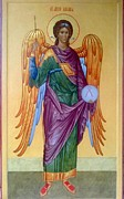 Orthodox Painting Originals - Michael the Archangel by Andrey  Peshkov