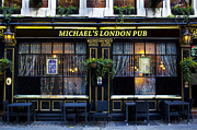 Michael Photo Framed Prints - Michaels London Pub Framed Print by David Pyatt