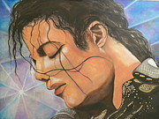 King Of Pop. Dancer Paintings - Michaels Prayer by Faith Jacobson