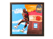 Michael Jordan Digital Art Prints - Michaels Universe Print by John Sibley