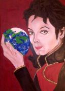Mj Painting Prints - Michaels World Print by Lorinda Fore