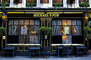 Michael Metal Prints - Michaelss Pub Metal Print by David Pyatt