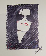Michael Drawings Posters - Micheal Jackson Poster by David Lambertino