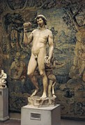 Michelangelo Framed Prints - Michelangelo 1475-1564. Bacchus. 1496 - Framed Print by Everett
