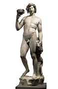 Michelangelo Framed Prints - Michelangelo 1475-1564. Bacchus Framed Print by Everett