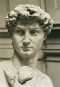 Youthful Photos - Michelangelo 1475-1564. David by Everett