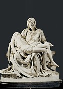 Michelangelo Framed Prints - Michelangelo 1475-1564. Pieta Framed Print by Everett