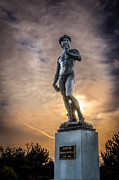 Handcrafted Art - Michelangelos David at Sunset by Anthony Morganti