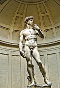 Renaissance Sculpture Prints - Michelangelos DAVID  Print by Jon Berghoff