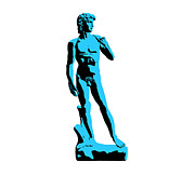 Renaissance Sculpture Prints - Michelangelos David - Stencil style Print by Pixel Chimp