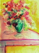 Michelangelo Mixed Media Prints - Michelangelos Vase Print by Helena Bebirian