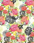 Vintage Flower Prints - Michella Print by Khristian Howell