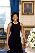 Barrack Digital Art Posters - Michelle Obama Poster by Official White House Photo