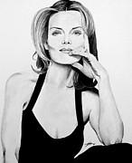 Michelle Pfeiffer Framed Prints - Michelle Pfeiffer Framed Print by Devin Millington