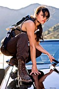 Vin Digital Art Posters - Michelle Rodriguez @ Fast to Furious Poster by Gabriel T Toro