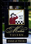 Michie Tavern - The Sign Print by Claire Pieron