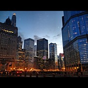 Bulls Photo Prints - Michigan Ave Bridge Print by Mike Maher
