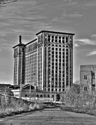 Detroit Digital Art - Michigan Central Station Detroit MI by B And G Art