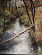 Michigan Pastels Prints - Michigan Creek Print by Jim Fronapfel