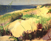Mid West Landscape Art Posters - Michigan Dunes 1930s Poster by Art By Tolpo Collection