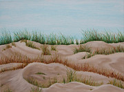Sand Dunes Paintings - Michigan Dunes by Brandy Gerber