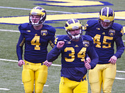 University Of Michigan Metal Prints - Michigan Spring Football 6 Metal Print by Steve Sturgill