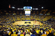 Ncaa Photo Framed Prints - Michigan Wolverines Crisler Center Framed Print by Replay Photos