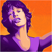 Mick Jagger Drawings - Mick by Craig Carl