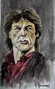 Mick Jagger Drawings - Mick by Hendrik Hermans