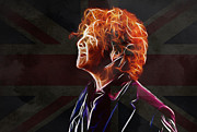 Band Digital Art - Mick Hucknall by Stefan Kuhn