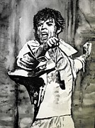 Rock And Roll Painting Originals - Mick in Motion II by Todd Spaur