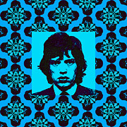 Pop Singer Framed Prints - Mick Jagger Abstract Window p168 Framed Print by Wingsdomain Art and Photography