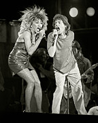 Rolling Stones Art - Mick Jagger and Tina Turner at Live Aid 1985 by Chuck Spang