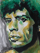 Famous Faces Painting Originals - Mick Jagger by Chrisann Ellis