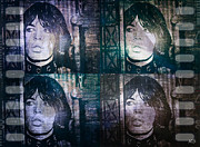 Clip-art Digital Art - Mick Jagger - Collage by Absinthe Art  By Michelle Scott