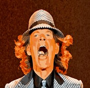 Mick Jagger Print by Elizabeth Coats