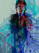 Mick Jagger Painting Metal Prints - Mick Jagger Metal Print by Irina  March