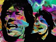 Counterculture Framed Prints - Mick Jagger Framed Print by Jack Zulli